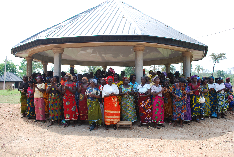 Widows in Utugwang praying for Peter Oti