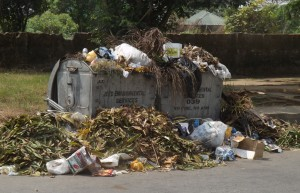 Calabar's latest offering,the overflowing refuse bins
