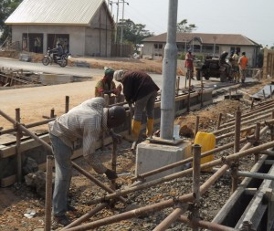 On-going construction work at the ITM gate