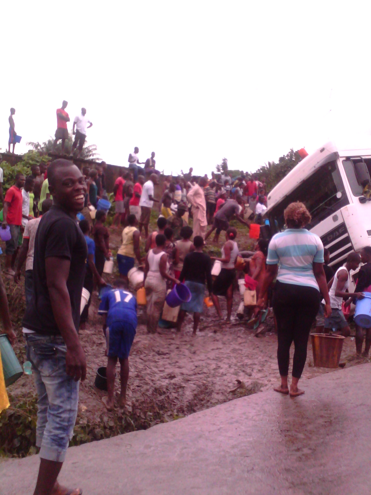 The scene of the accident at Ikot Ekpo