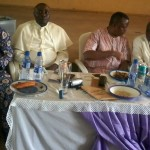 A cross-section of participants at the meeting, Bishop Ayah sitting to the right.