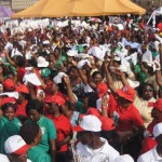 PDP women dancing at the occasion