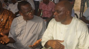 Wilfred Inah and Fmr Gov Clement Ebri at the occasion