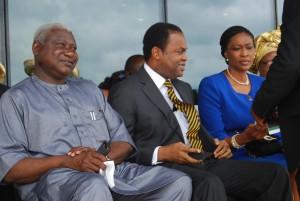 Former CR Gov, Donald Duke and wife, Onari, at the inauguration