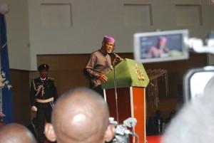 Former Gov. Imoke delivering his last address as governor