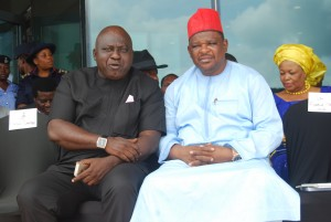 Goddy Jedy Agba(in red cap) with a friend at the occasion