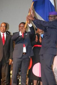 Imoke hands Ayade the flag