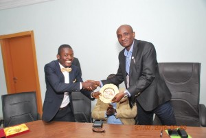 Speaker of the CRSHA receiving the Award of Excellence from the President of AYCFC