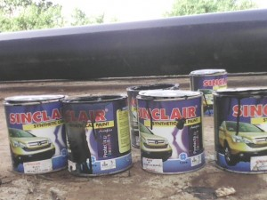 Car paint at the site
