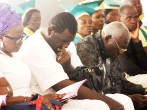 Iyeme Eteng, another son of the deceased, sheds a tear for his late mother.