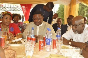 L-R: Linda Ayade, Ben Ayade and Imoke in Itigidi