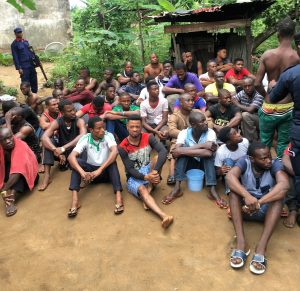 A group of suspected criminals recently rounded up by a combined in team in Calabar.