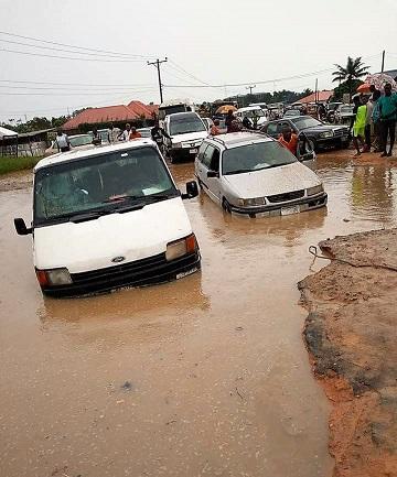 "Atimbo Road Worsens, Now Christened ""Atimbo Deep Sea Port"""