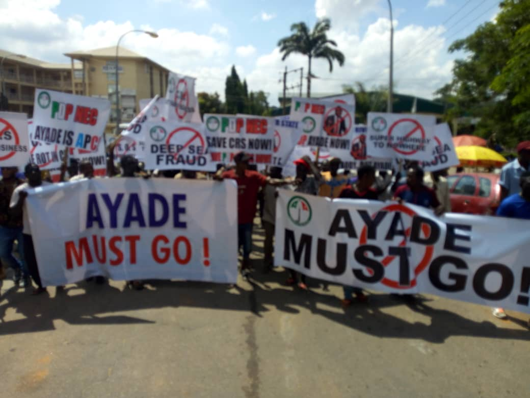 See Video & Pictures Of Ongoing Anti-Ayade Rally In Abuja