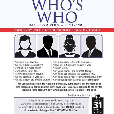 """Ayade, Imoke, Duke, Ebri, Oyo-Ita Listed in the 2018/2019 Edition of """"Contemporary Who's Who in Cross River State"""""""