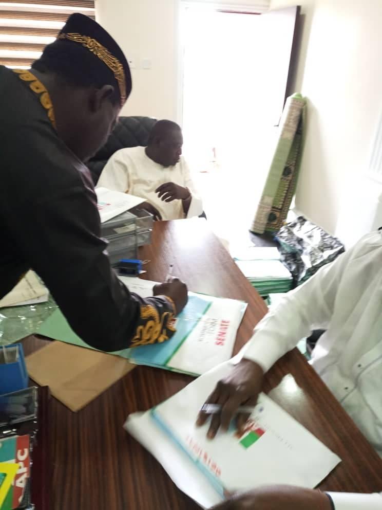 Ugba Morphy, Returns Senate Nomination Forms To APC