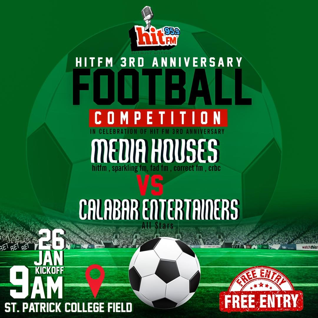 3RD ANNIVERSARY: HIT 95.9 FM Lines Up Radio Stations Vs. Entertainers Football Match
