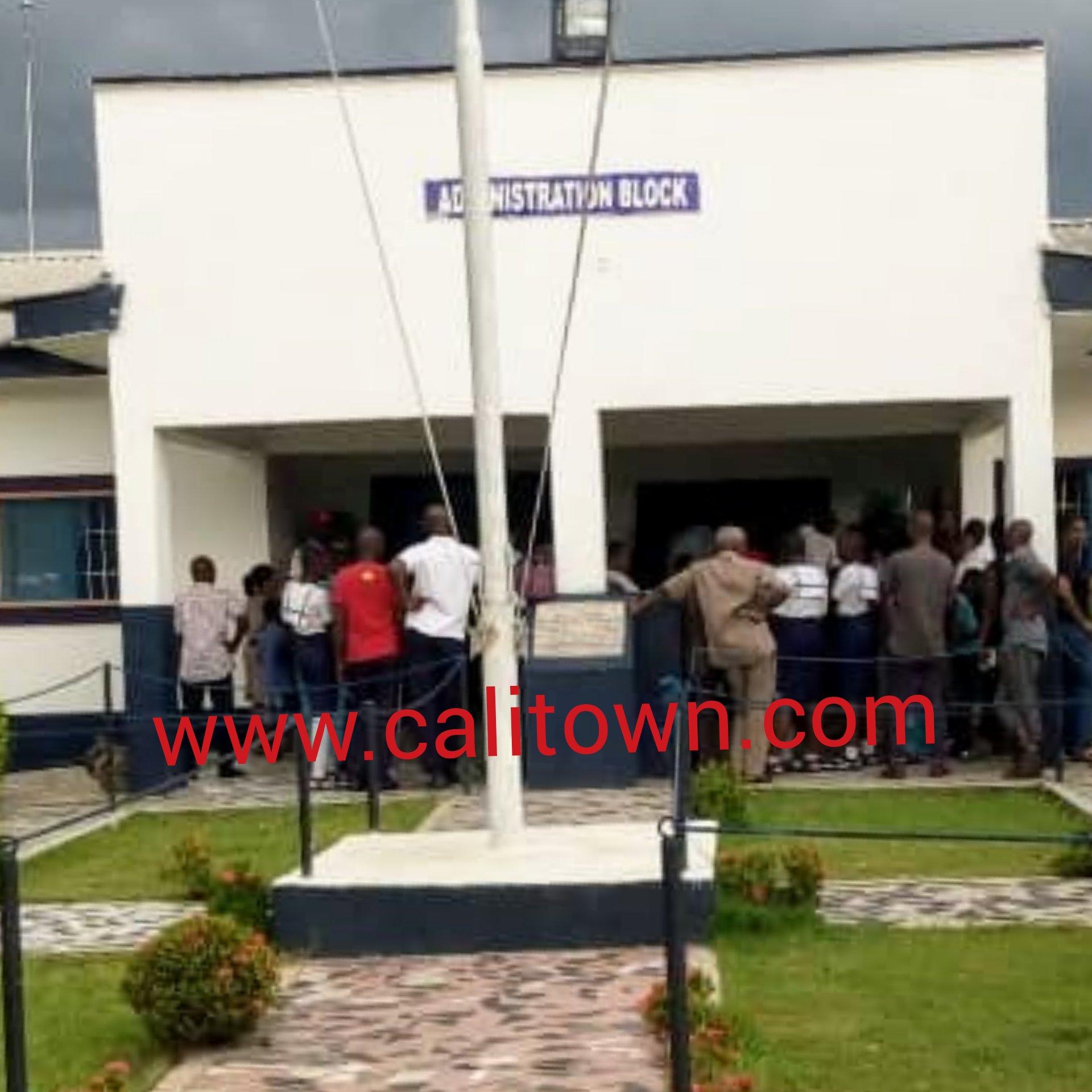 BREAKING: Fire Burns Down Nigerian Navy Sec School Hostel