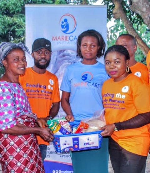 NGO Demonstrates Love, Feeds 20 Elderly Women